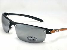 X-Loop Sunglasses Metal Frame Mirrored Revo Lens Sports Shades Mens Sunnies New