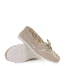 WOMENS DUDE POSITANO BEIGE BOAT DECK LADIES CASUAL SHOES LOAFERS SIZE 3-8