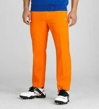 PUMA Golf Mens Solid 5 Pocket Golf Tech Pants    Orange    NWT select your size