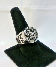 Knights Templar Soldiers of Christ Masonic Ring