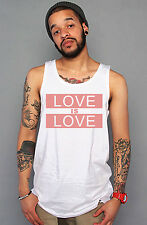 Equality Equal T Shirt Gay Lesbian Marriage - Love Is Love Pink White Tank Top