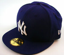 New Era Cap 59Fifty New York Yankees Basic Purple/White Fitted Cap Hat NY