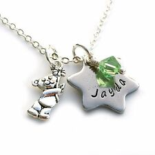 Keepsake Necklace, Birthday Gift, Personalised Jewellery, Hand Stamped Gift