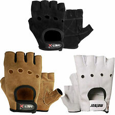 Met-X Fingerless Gym Gloves, Cycle Gloves, Weight Lifting Boxing, Driving Suede
