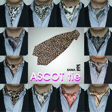 Ascot Tie cravat Stylish Mens Neck tie Satin Scarf self tie wholesales(bulk)