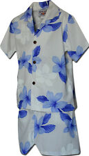Toddler Boys Hawaiian Clothes Plumerias 220-3551 NEW 100% Cotton Made in Hawaii.