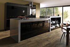High Gloss Black 10 Door Kitchen with Panels & Plinths! High Quality Acrylic!