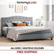TOMMY SWISS: NEW King, Queen & Double Size Deluxe PU Leather Bed Frame - B102