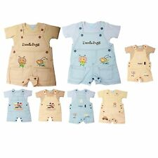 Boys Baby Toddler Kids 100% Cotton Dungarees and T Shirt Set Outfit with Motif
