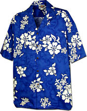 Boys Hawaiian Shirt White Hibiscus 211-3156 NEW 100% Cotton Made in Hawaii. USA