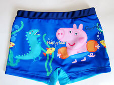 NWT Peppa Pig Kids/Boys/Toddler/Childs Swimsuits Boxers/Briefs/Trunks Blue 2T-5T