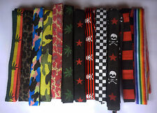 PATTERNED PAIR BOOT SHOE LACES CHOICE OF 12 DESIGNS 110cm x 1.5cm ROCK RASTA EMO