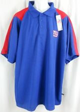 New York Giants NFL Team Apparel Embroidered Dri Fit Polo Golf Shirt Big Sizes