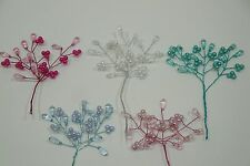 2 BUNCHES OF PEARL / ACRYLIC SPRAY DECOR (CHOOSE FROM ANY COLORS)