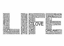 Words of Life Home Decor Canvas Print, choose your size.