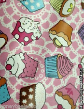 LARGE CUPCAKE OILCLOTH VINYL FABRIC KITCHEN TABLECLOTHS WIPE CLEAN MATERIAL