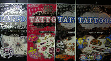 NEW TEMPORARY TATTOOS * Your Choice Design* Tattoos Designs Books 6 pages