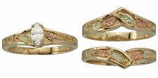 Black Hills 10K Gold Ring .20 tcw / Ring Guard / Combo 12K Leaves #4907D & #4869