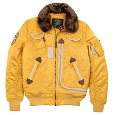 ALPHA INDUSTRIES B-15 INJECTOR JACKET YELLOW XS,S,M,L.XL,2XL,3XL,4XL,5XL NYLON