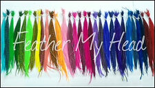 Wholesale Premium  Feather Hair Extention  Grizzly Whiting Salon Packs X-Long L5