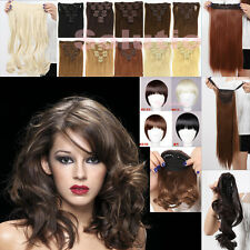Catwalk Double Weft deluxe Clip in Hair Extensions 83 style Black Brown Blonde