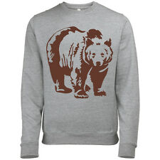 BROWN BEAR MENS ANIMAL FASHION PRINT SWEATSHIRT JUMPER