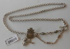 Brighton New Silver Plated Chain Belt with Charms  Sizes S, M   NWT  B50062