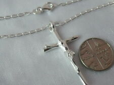Solid 925 Sterling Silver Crucifix / Cross  Pendant / Necklace Mens / Ladies