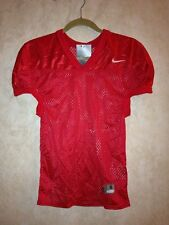 NEW Mens Sz XL NIKE Double Coverage Scarlet Red Mesh Football Jersey Shirt