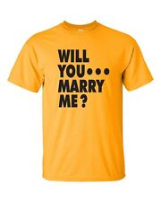 WILL YOU MARRY ME Unique Romantic Wedding Marriage Proposal Tee Shirt