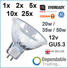 BRANDED MR16 20w 35w 50w - Halogen Spotlight Lamp 12v GU5.3 Reflector Light Bulb