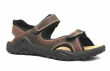 Mens Brown Leather Moshulu Portreath Sports Sandals Velcro Fastening RRP £59.99