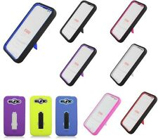 For LG Optimus G Pro Heavy Duty Stand Hybrid Hard Soft Cover Case Accessory