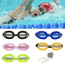 Water Sports Summer Swim Swimming Goggles Set with 2 Earplugs & 1 Nose Clip