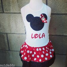 Minnie Mouse Dress. Several colors and sizes to choose from. Personalie it!