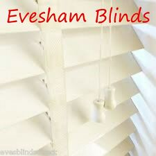 Made to Measure Ivory Cream Wooden Venetian Window Blind With Tapes Real Wood