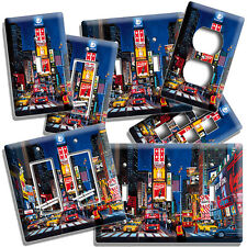 NEW YORK CITY MANHATTEN NIGHT SKY TIME SQUARE BIG APPLE COVER WALL PLATE COMBO