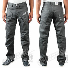 New Mens Enzo Denim Grey Jeans Designer Coated Waist Size 30 32 34 36 38 40 42