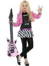 CHILDRENS GIRLS ROCKSTAR GLAM COSTUME MINI HEROES FANCY DRESS OUTFIT - 3 SIZES