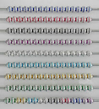 10 - 20 or 50 ALUMINIUM LANTERN BEADS SPACERS VARIOUS COLOURS EUROPEAN BRACELET