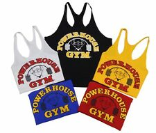 Powerhouse Gym Stringer Tank Top in Black, Gold, Red, Royal Blue, White- New