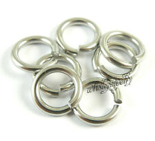 Wholesale 2x12mm Stainless Steel Saw Cut Open Jump Rings DIY Jewelry Findings