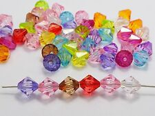 100 Transparent Acrylic Faceted Bicone Beads 12mm Spacer Finding Pick your color