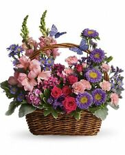 Country Basket Blooms. Teleflora T48-3A. Fresh Flower Delivery by Florist