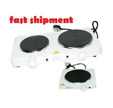 Hot Plate  SINGLE OR DOUBLE Table Top Portable Electric Heater Temp CONTROL