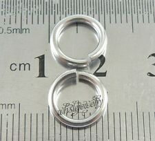 Wholesale 1.5x10mm Stainless Steel Saw Cut Open Jump Rings DIY Jewelry Findings