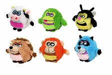 Mushabellies plush toy with free app game Bee Monkey Raccon Frog Cow Hedgehog
