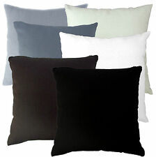 aa White/Dark Tone Plain Solid Cotton Canvas Pillow/Cushion Cover*Custom Size*