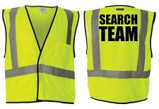 SAR - SEARCH & RESCUE TEAM REFLECTIVE MESH SAFETY VESTS - SAFETY GREEN