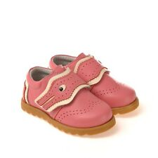 CAROCH Pink Crocodile Leather Casual Shoes Baby Toddler Girls 5 to 9 New in Box